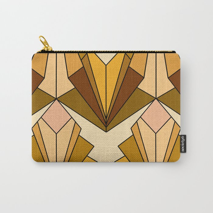 Art Deco meets the 70s - Large Scale Carry-All Pouch