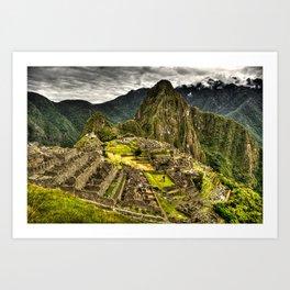 Machu Picchu Hi-Res HDR landscape Peru Art Print