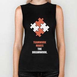 Lab No. 4 - Teamwork makes the dreamwork corporate start-up quotes Poster Biker Tank