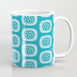 Mid Century Modern Atomic Sunburst Cerulean Coffee Mug