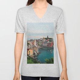 Vernazza, Italy (Portrait) Unisex V-Neck