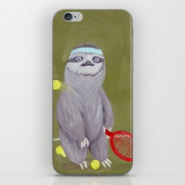 Sloths Are Bad At Things- Kevin the Tennis Star iPhone Skin