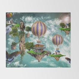 Balloon House Throw Blanket