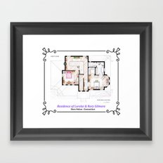 House of Lorelai & Rory Gilmore - First Floor Framed Art Print