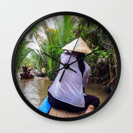Tributary of the Mekong Delta Wall Clock