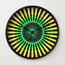 Rainbow Spokes Wall Clock