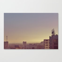 Sunset Across the District - Downtown Los Angeles #7 Canvas Print