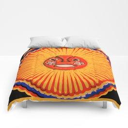 The sun Huichol art Comforters