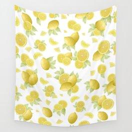 Summer Lemon Twist #1 #tropical #fruit #decor #art #society6 Wall Tapestry