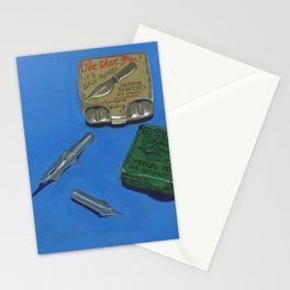 Ink Dip Pen Nib Containers in Gouache Stationery Cards