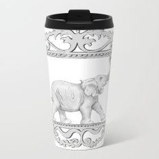 grey frame with elephant Metal Travel Mug