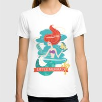 little mermaid T-shirts featuring Little Mermaid by LindseyCowley