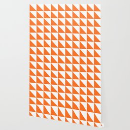 Geometric Pattern 01 Orange Wallpaper