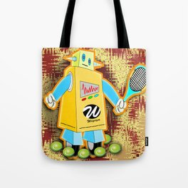 Tennis Robot with Racquet Tote Bag