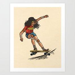Wonder Skater (In Comic Colors!) Art Print