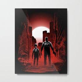 Quarantine: Joel and Ellie Metal Print