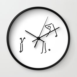 golfer on golf course Wall Clock