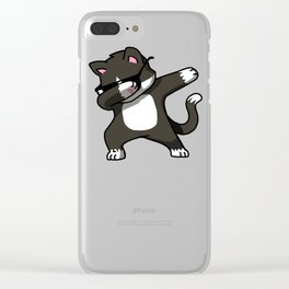 cat dabbing Clear iPhone Case