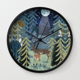 the secret forest Wall Clock