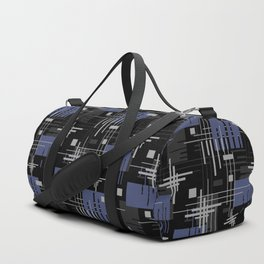 Black and blue abstract Duffle Bag