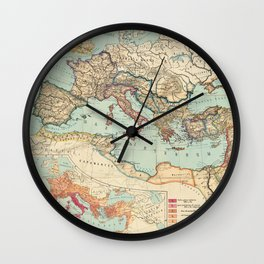 Vintage Map of The Roman Empire (1889) Wall Clock