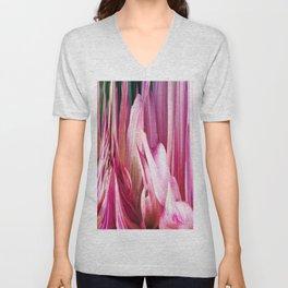 448 - Abstract Flower Design Unisex V-Neck