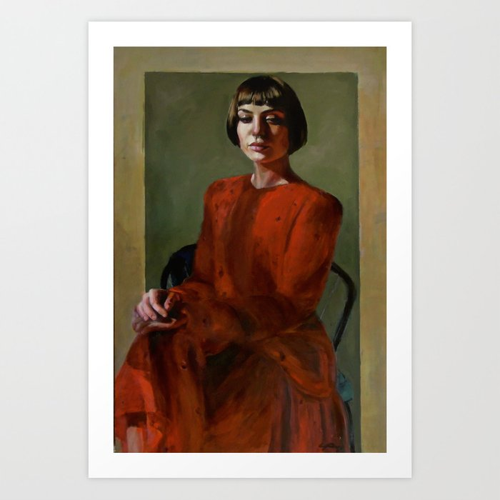 Woman Named Blue Art Print