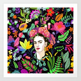 Frida in Bloom Art Print