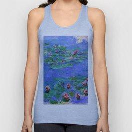 Claude Monet Waterlilies Red Unisex Tank Top