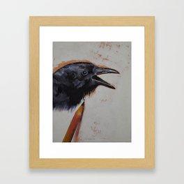 Raven Sketch Framed Art Print