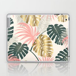 Tropical Print with Gold Laptop & iPad Skin
