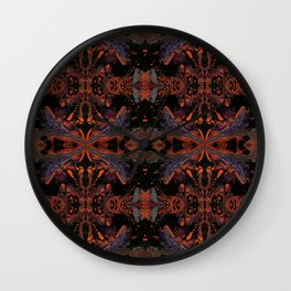Psycho - Spooky Halloween Orange and Black Theme by annmariescreations Wall Clock