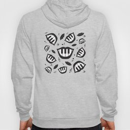Piano smile pattern in black&white Hoody