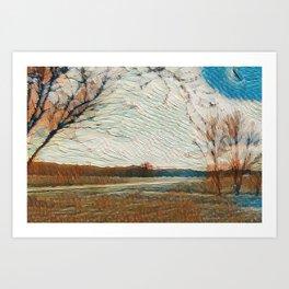 """""""Heartland Sunset"""" Art Print"""