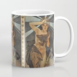 "Alphonse Mucha ""The Moon and the Stars Series: The Morning Star"" Coffee Mug"