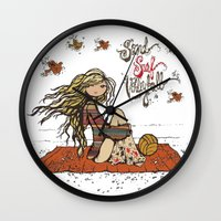 volleyball Wall Clocks featuring Surf, Sand, Volleyball by KiKi Spike Volleyball Stuff!