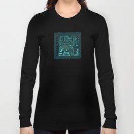 Kraken Glyph (Abyssal Background) Long Sleeve T-shirt