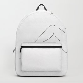 Sitting Woman Backpack