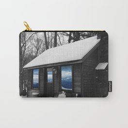 Snowy Cabin In The Woods Carry-All Pouch