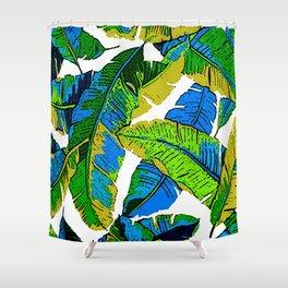 BANANA PALM LEAF PARADISE Shower Curtain