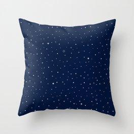 Star-field - Blue Throw Pillow