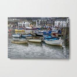 Mevagissy Harbour Metal Print
