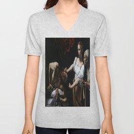 Caravaggio's Judith Beheading Holofernes Unisex V-Neck
