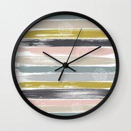 Fragments, Brushstrokes and Circles Wall Clock