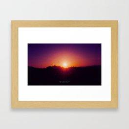 Sunset's Soul Framed Art Print