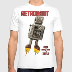 :: RETRONAUT White MEDIUM Mens Fitted Tee