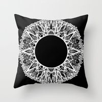 halo Throw Pillows featuring Halo by salazarhawn