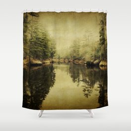 The Duet of Joy and Sorrow Shower Curtain