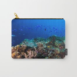Coral Sea Print Carry-All Pouch