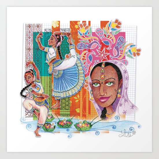 India dancer Art Print